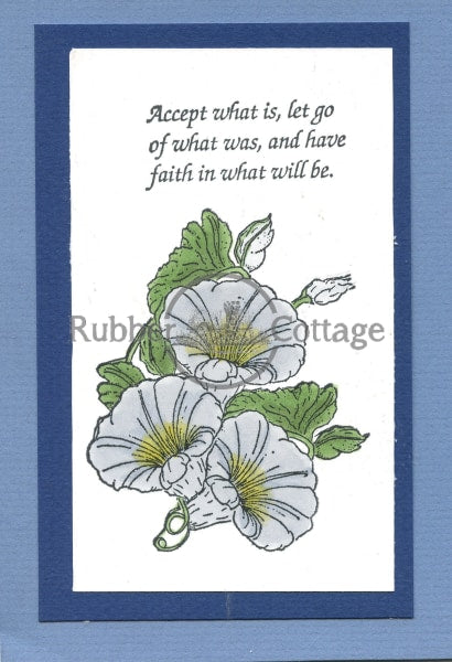 Morning Glory Small Rubber Stamp