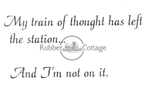 My Train Rubber Stamp