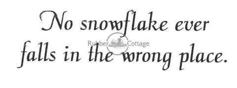 No Snowflake Rubber Stamp