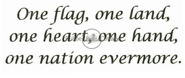 One Flag Rubber Stamp