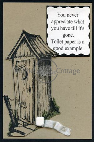 Outhouse Stamp Set Rubber