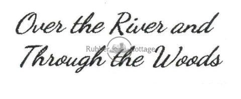 Over The River Rubber Stamp