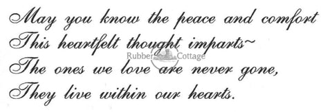 Peace And Comfort Rubber Stamp