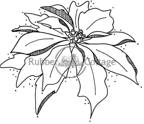 Poinsettia Sm. Rubber Stamp