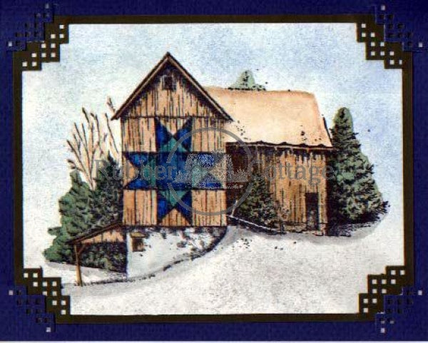 Quilt Barn 2 Rubber Stamp