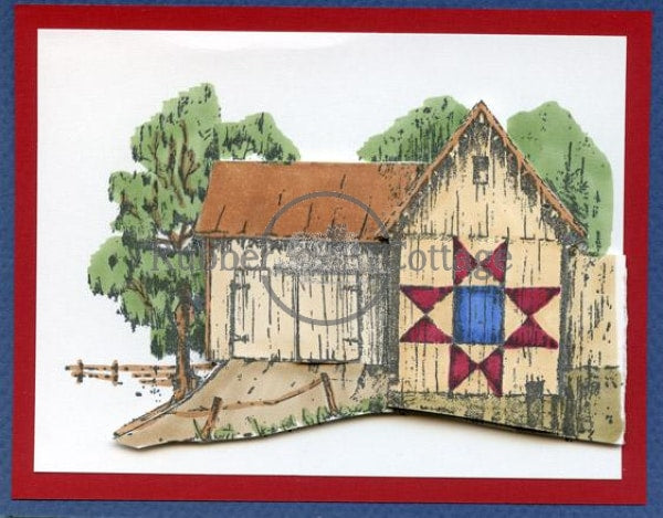 Quilt Barn Rubber Stamp