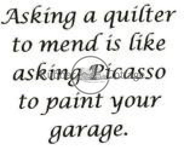 Quilter Rubber Stamp