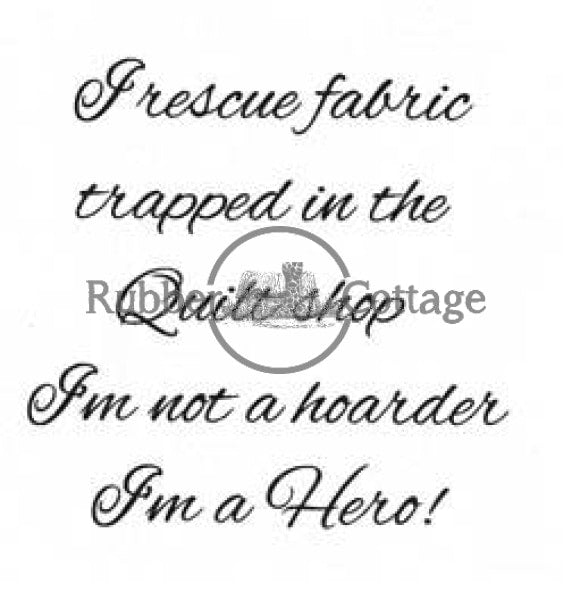 Rescue Fabric Rubber Stamp