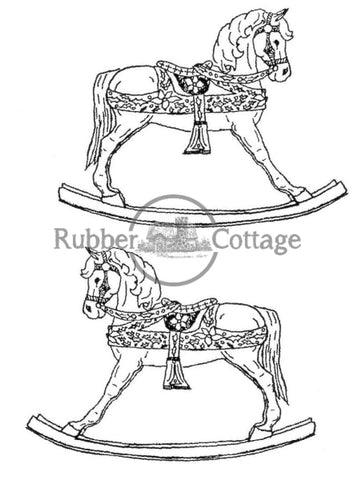 Rocking Horse 2 Rubber Stamp