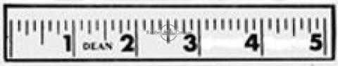 Ruler Rubber Stamp