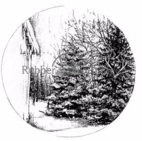 Scenes Of Winter Snow Globe Rubber Stamp