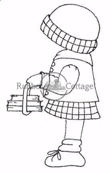 School Girl Annie Rubber Stamp