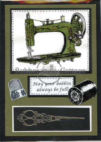 Scissors Rubber Stamp