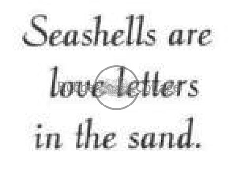 Seashells Rubber Stamp