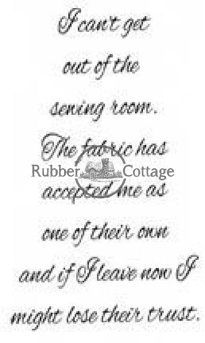 Sewing Room Rubber Stamp