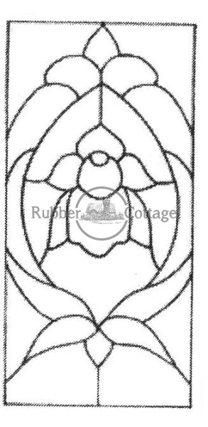 Small Stained Glass Rubber Stamp