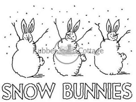 Snow Bunnies Rubber Stamp