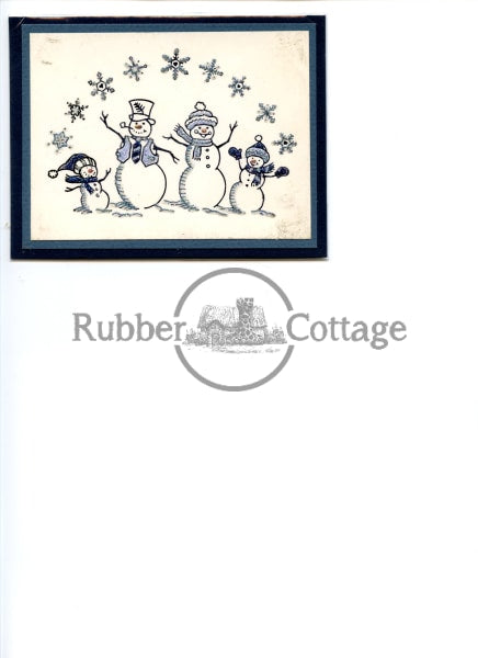 Snow Family Rubber Stamp