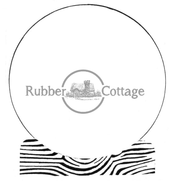 Snow Globe Rubber Stamp