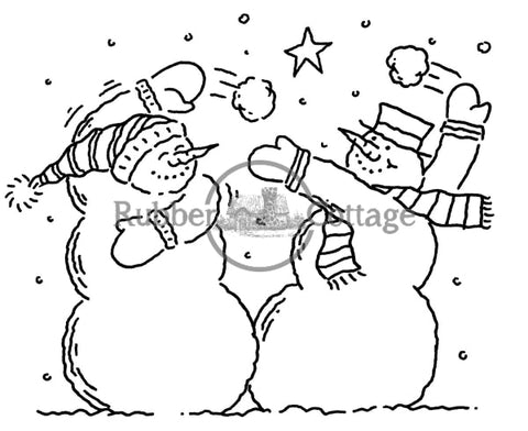 Snowballs Rubber Stamp