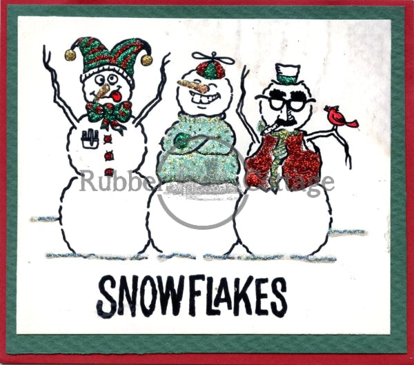 Snowflakes Rubber Stamp