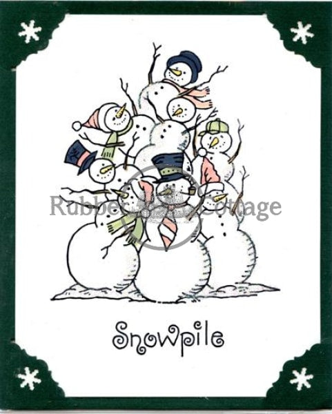 Snowpile Rubber Stamp