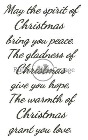 Spirit Of Christmas Rubber Stamp