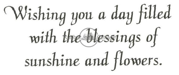 Sunshine And Flowers Rubber Stamp