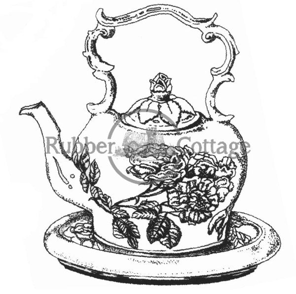 Teapot Lg. Rubber Stamp