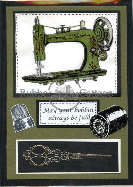 Thread Single Rubber Stamp