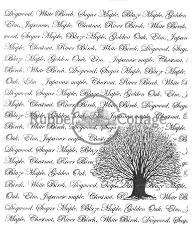 Tree Background Rubber Stamp
