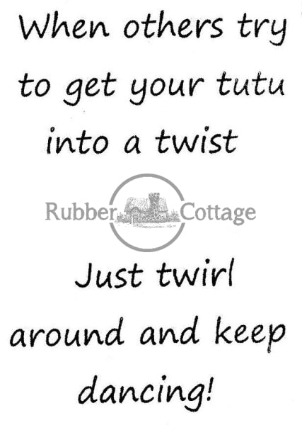 Twist/just Twirl Rubber Stamp
