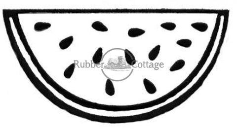 Watermelon Slice Lg Rubber Stamp