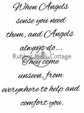 When Angels Sense Rubber Stamp