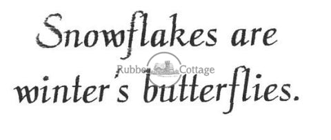 Winters Butterflies Rubber Stamp