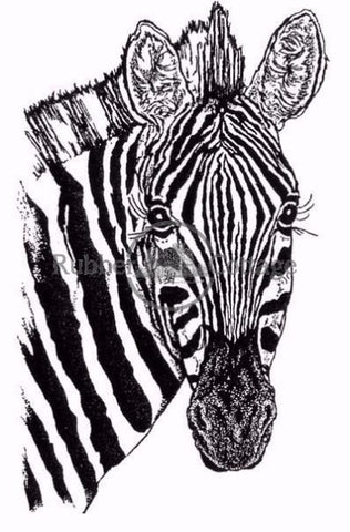 Zebra. Large Rubber Stamp
