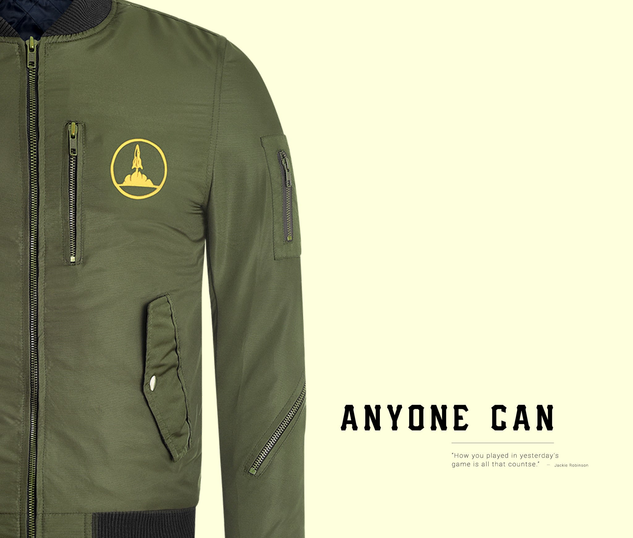 AnyOne Can | Green Bomber Jacket