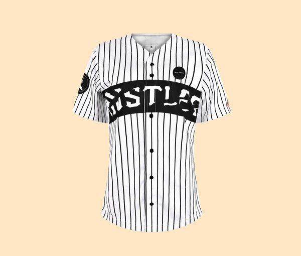 Women's HUSTLER | White Oversized Jersey