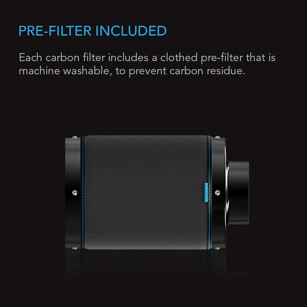 AC Infinity Australian Charcoal Carbon Air Duct Filter, 4""