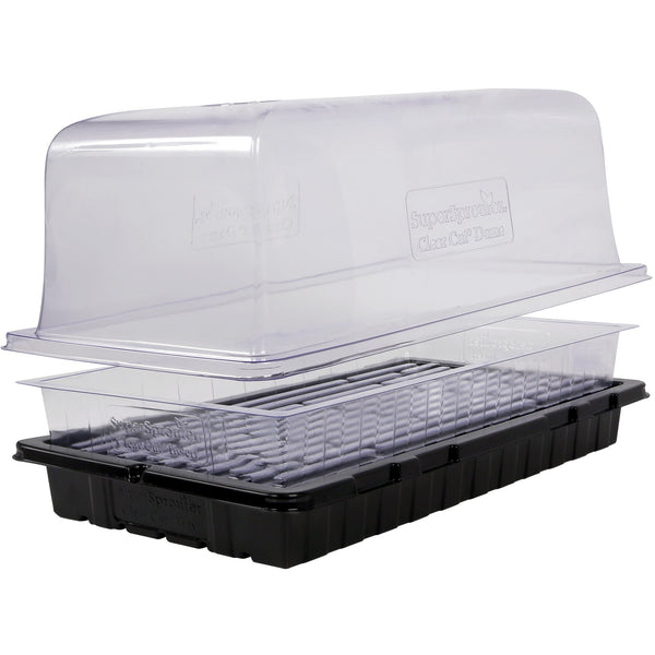 Super Sprouter® Clear Cut Custom Tray, No Holes | Case of 35