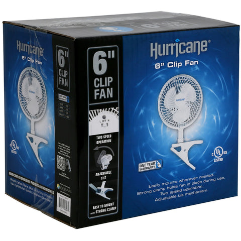 Hurricane® Clip Fan, 6""