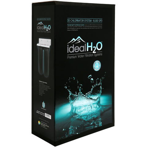 Ideal H2O® Commercial De-Chlorinator System with Catalytic Carbon Filter, 10,000 GPD