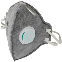 Grower's Edge® Clean Room Vertical Fold-Flat Active Carbon Respirator Mask with Valve | Pack of 10