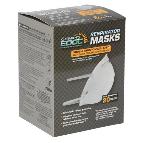 Grower's Edge® Clean Room Conical Particulate Respirator Mask | Pack of 20