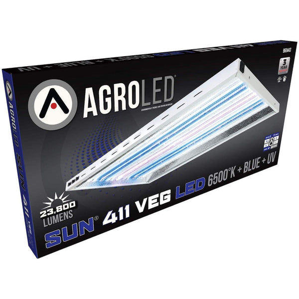 AgroLED® Sun® 411 Veg 8 Lamp LED Fixture, 6500K  + Blue + UV