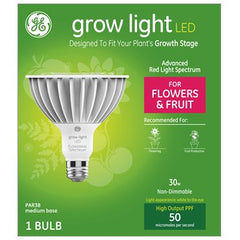 GE Lighting Grow Light Advanced Red Spectrum LED PAR38, 30W