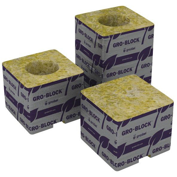 "Grodan® GRO-BLOCKS Delta 4, Small 3"" with Holes 