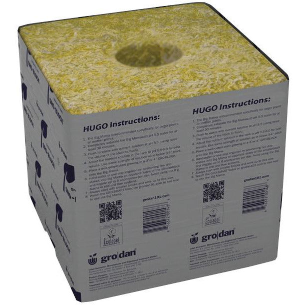 "Grodan® GRO-BLOCKS Hugo with Holes, 6"" x 6"" x 6"""