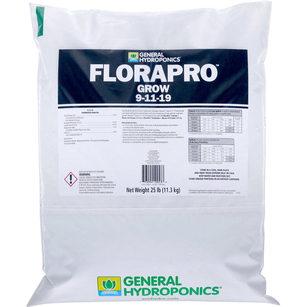 General Hydroponics® FloraPro™ Grow Soluble, 25 lb