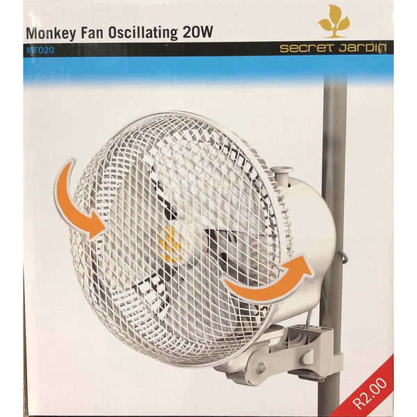 Secret Jardin Grow Tent Oscillating Monkey Fan, 20w